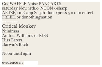 GodWAFFLE Noise PANCAKES